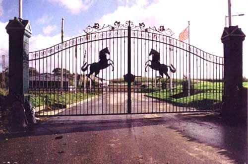 Iron Gates Horse Driveway Gate Metal Driveway Gates Gates And