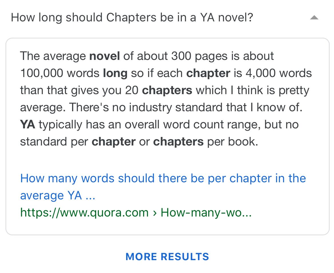 Ya Chapters Book Writing Tips Writing A Book Writing Tips