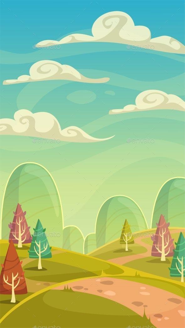 Cartoon Nature Landscape Cartoon Background Cute Cartoon Wallpapers Forest Illustration