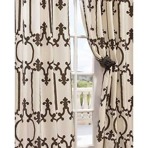 Half Price Drapes Royal Gate Ivory 96 X 50 Inch Curtain