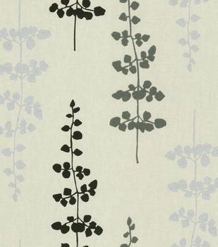 Fabric Home Decor Fabric-Waverly Floating Petals Black