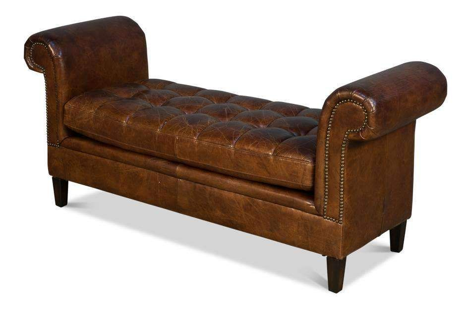 English Backless Setteedefault Title Leather Settees Traditional Sofa Low Back Sofa