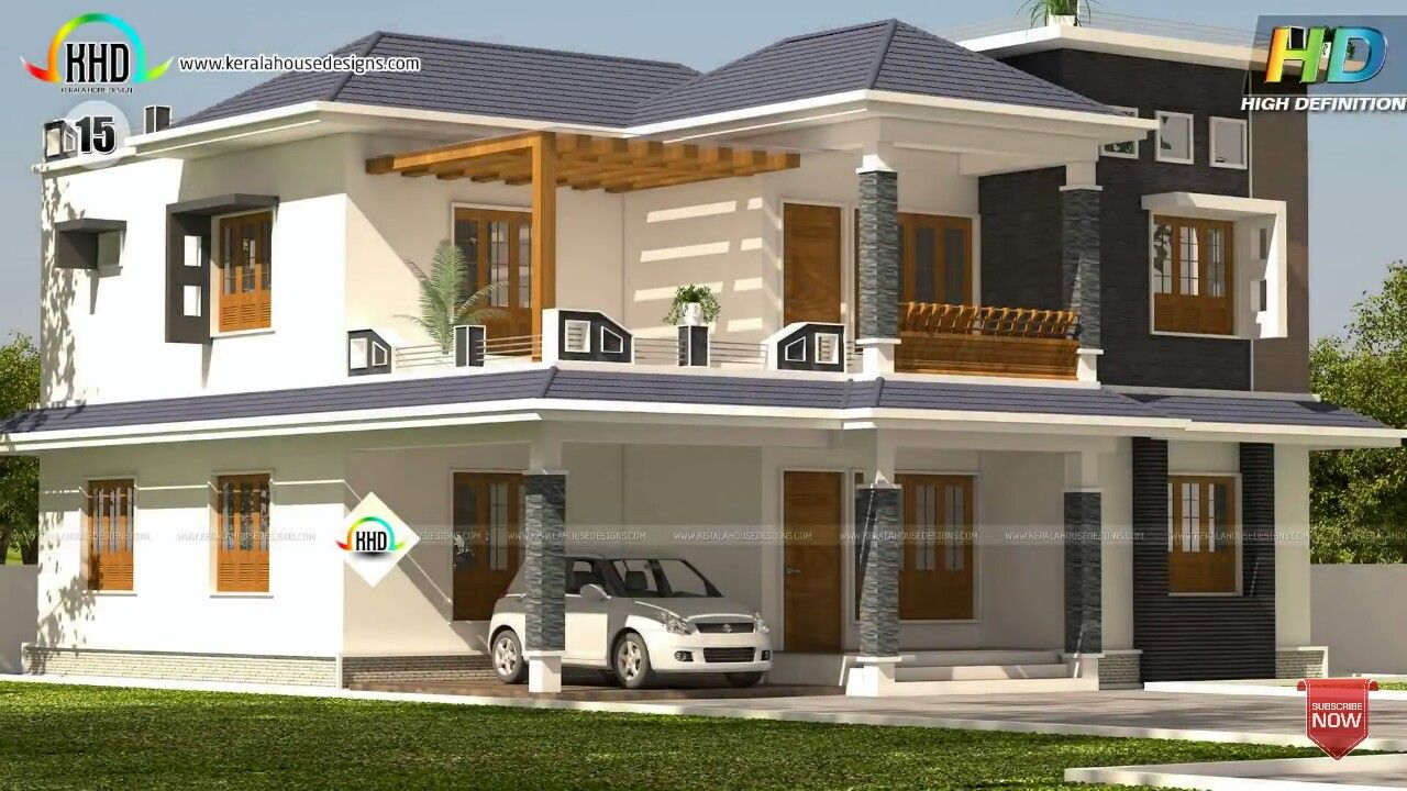 Pin By Hasnah On Elevations Kerala House Design House Design Modern House Plans