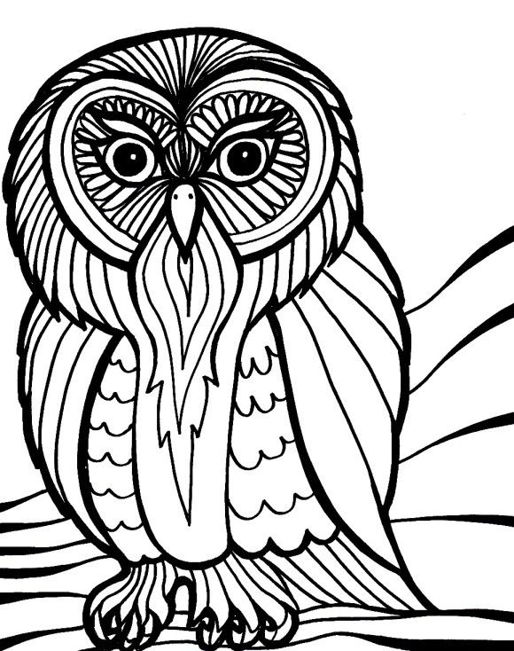 scary halloween owl coloring pages hallowen coloring pages of