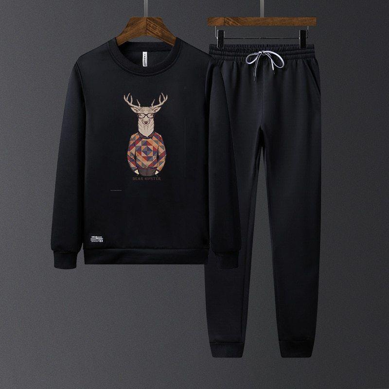 men clothes 2018 two piece men set sports suit long sleeved sweater autumn new fashion tide mens tracksuit is part of Sport Clothes 2018 - original Price($)55 6sale Price($)28 36