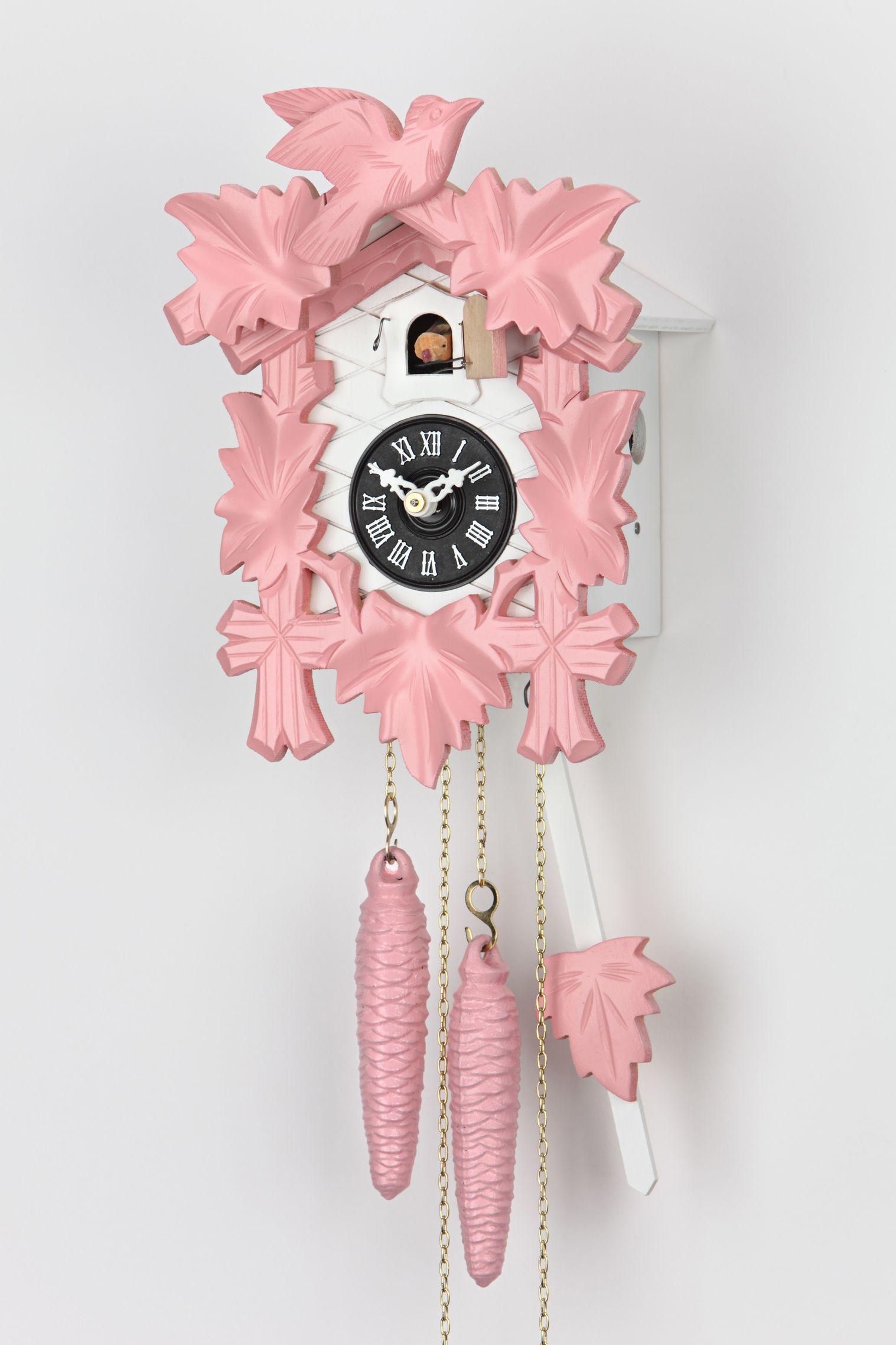 Modern Pink Cuckoo Clock Cuckoo Clock Clock Ceramics Projects