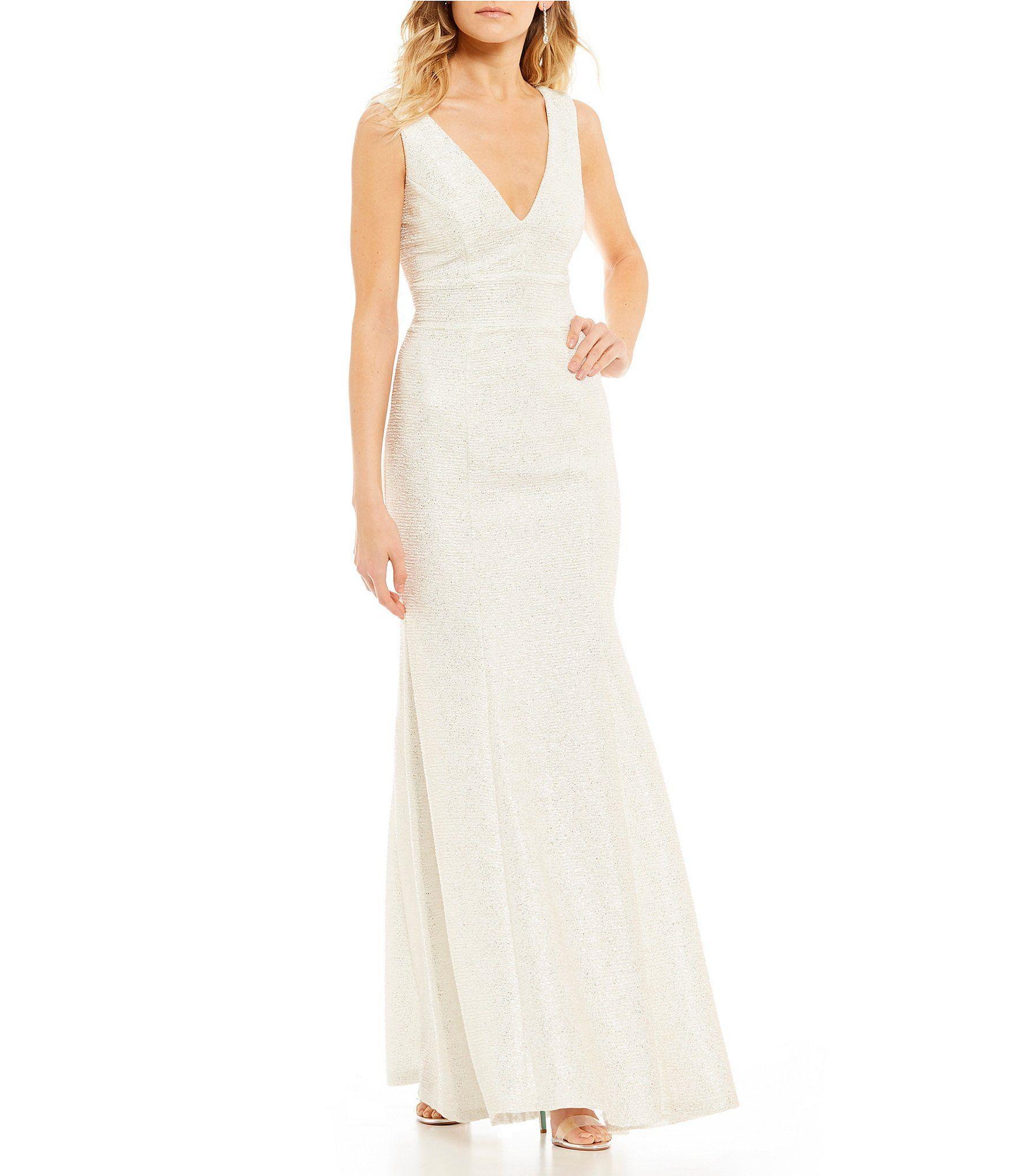 Xtraordinary foiledknit long dress dillards clothing accessories