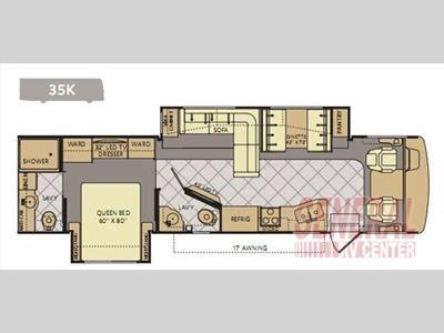 Floorplan 2014 Fleetwood Rv Bounder 35k On Order Click To