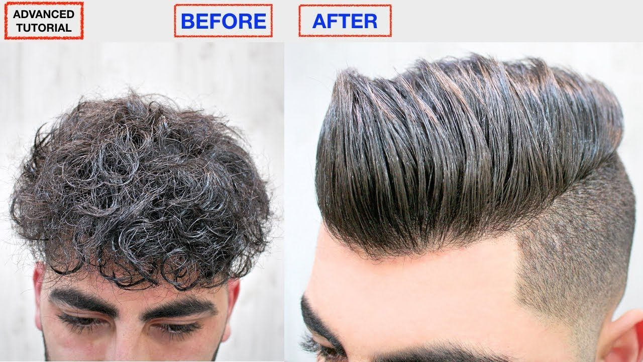 Hair Straightening Keratin Men S Hairstyle Dry Frizzy Curly To Straight Hair Top Hair Style Curly To Straight Hair Straight Hairstyles Curly Hair Treatment