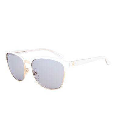 Look at this #zulilyfind! White & Gray-Blue Sunglasses #zulilyfinds