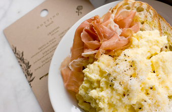 Steam Scrambled Eggs with an Espresso Machine for the fluffiest, creamiest eggs ever.