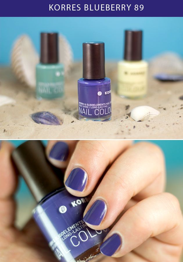 KORRES Blueberry nail polish   Style   Pinterest   Ongles and Swatch