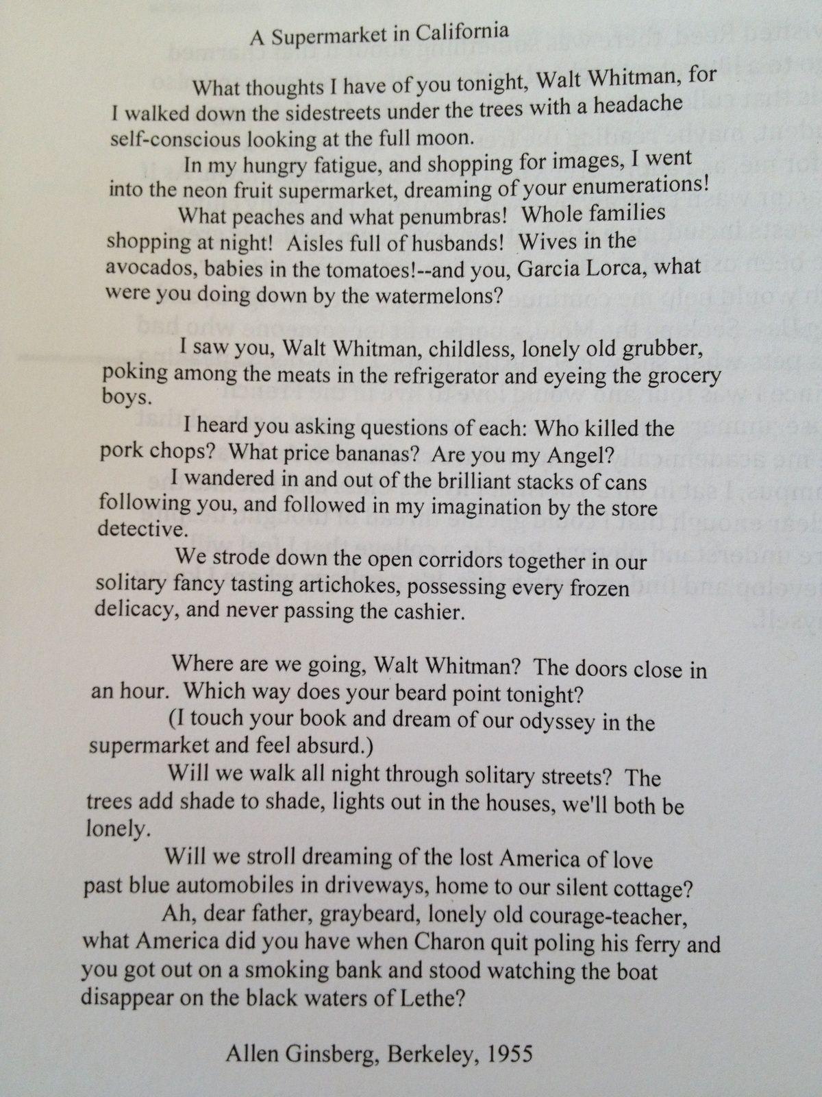 a supermarket in california poem