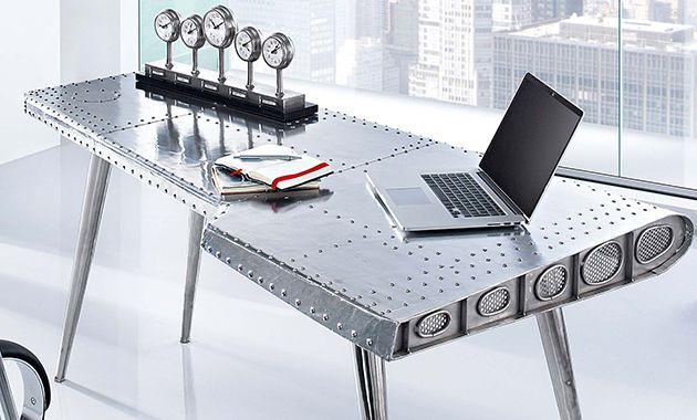 Aviator Pilot Industrial Aluminum Rivets Dining Table or Desk NEW