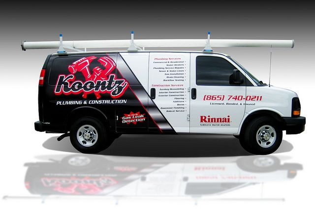 Plumbing Van Wraps Power T Graphix Wrap On Koontz Plumbing Van