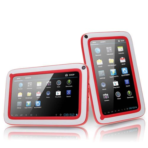 """7"""" Android 4.0 Camera 5-Point Capacitive 4GB 512MB Children Kids Tablet PC Red"""
