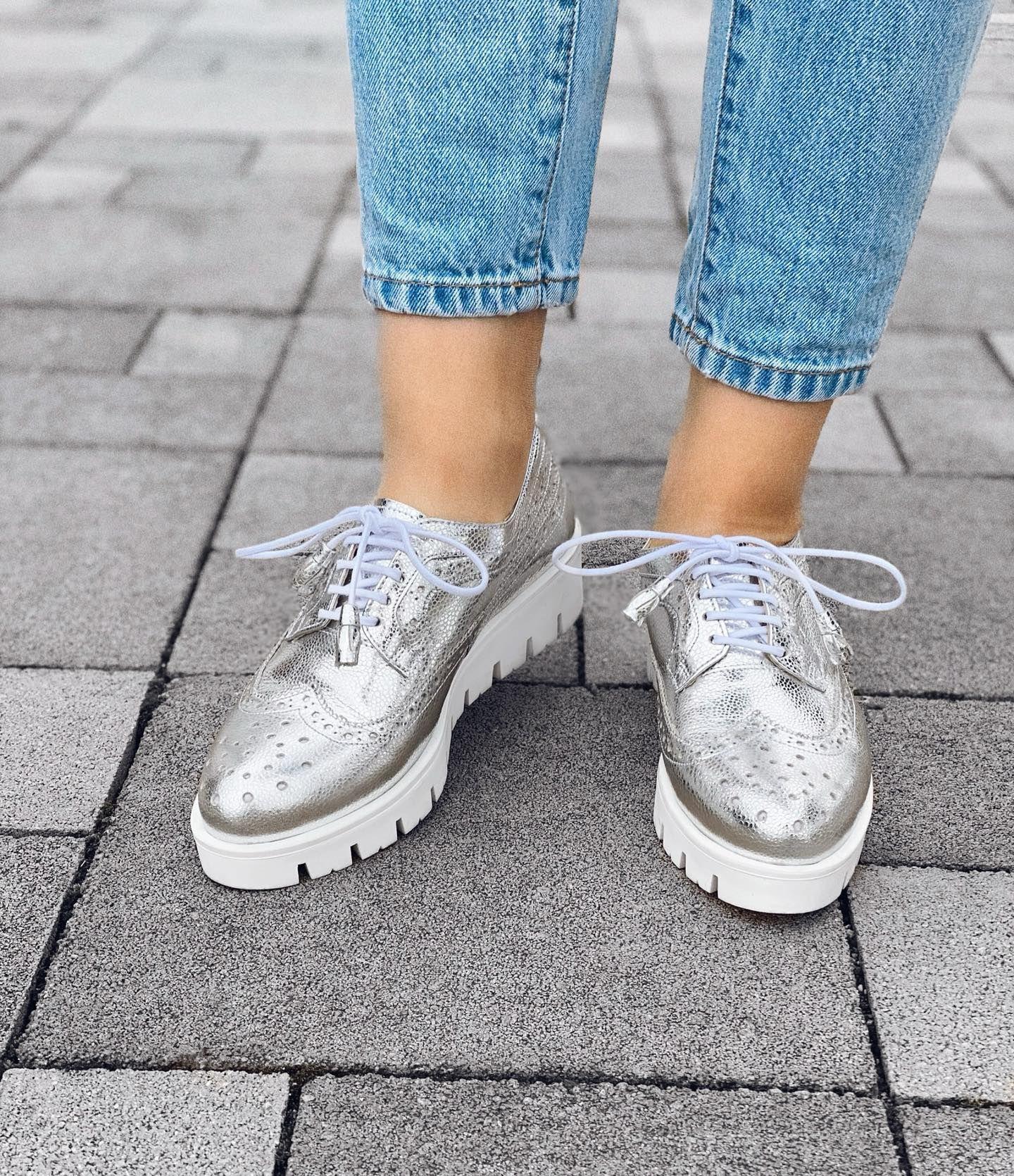 Silver shoes 💓 handmade leather lovidovi