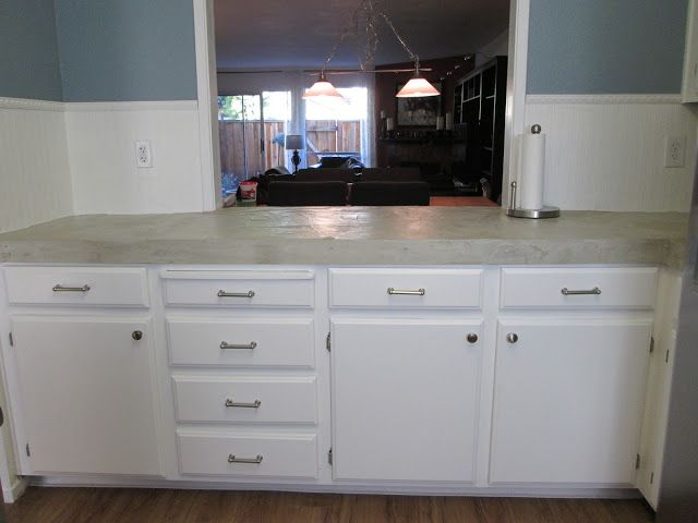 My project: pouring concrete countertops Over existing tile - Remodeling Forum - GardenWeb