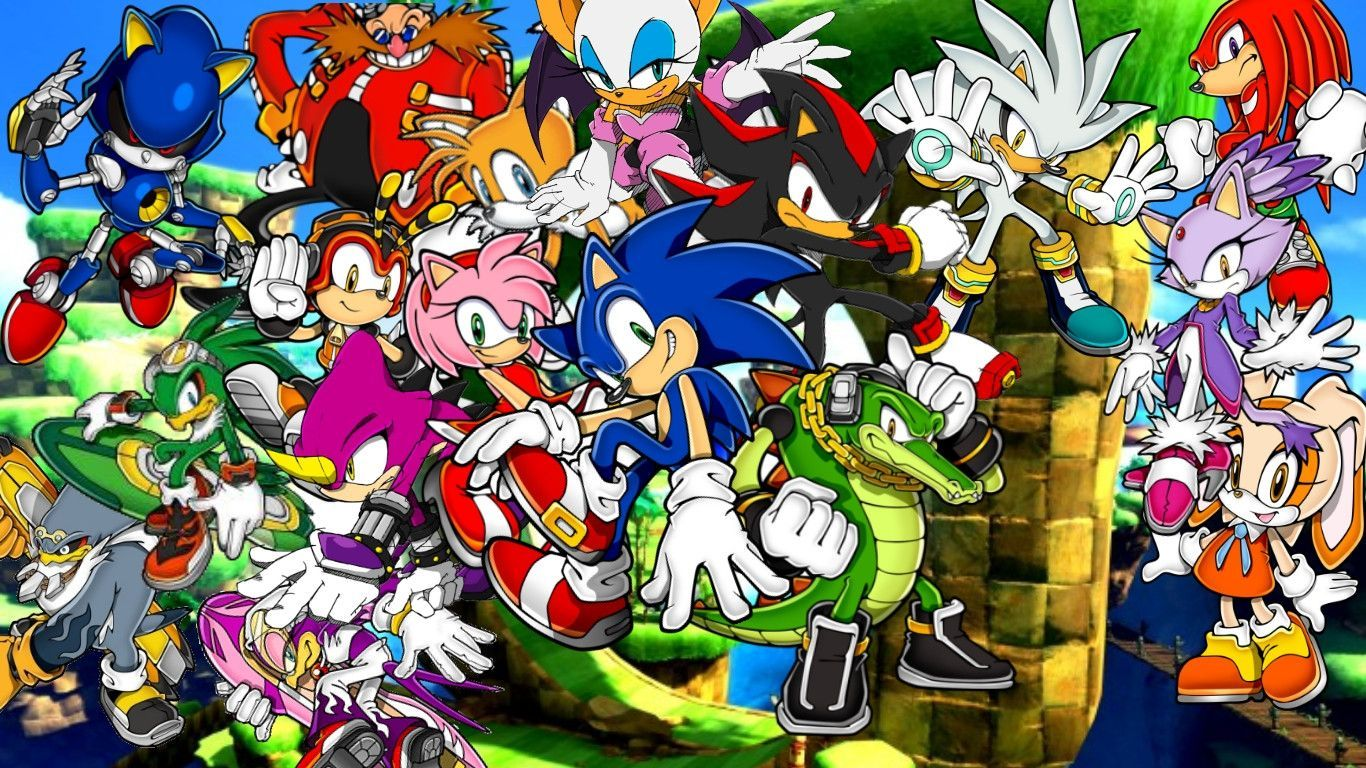 Sonic the hedgehog serie background by infersaime on