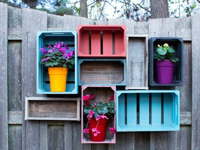 Deko Ideen Selbermachen Gartenzaun Dekorieren Blumentöpfe