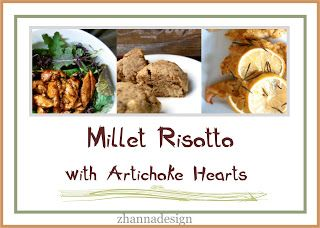 be healthy-page: Millet Risotto with Artichoke Hearts