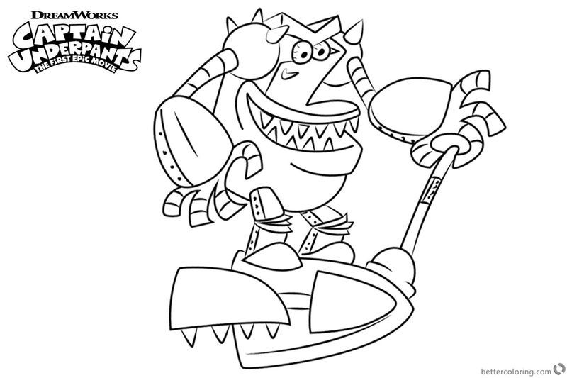Captain Underpants Movie Turbo Toilet Coloring Page Also See The