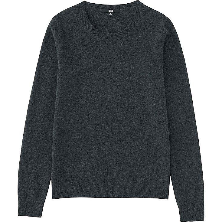 Evergrey: dark grey cashmere sweater // Uniqlo | Happy Go ...