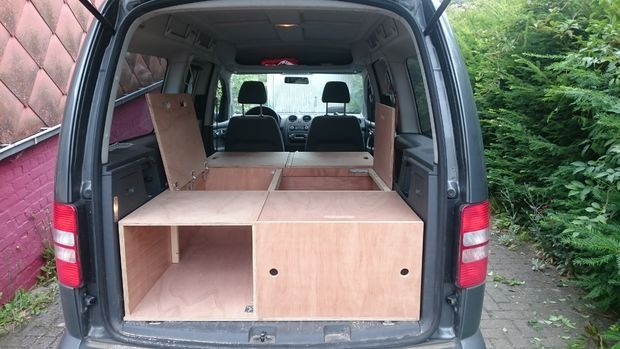 diy vw caddy maxi camper camping camper vw caddy maxi. Black Bedroom Furniture Sets. Home Design Ideas