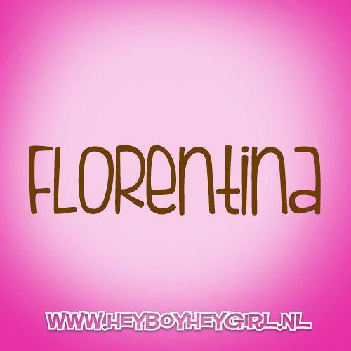 Florentina (Voor meer inspiratie, en unieke geboortekaartjes kijk op www.heyboyheygirl.nl)