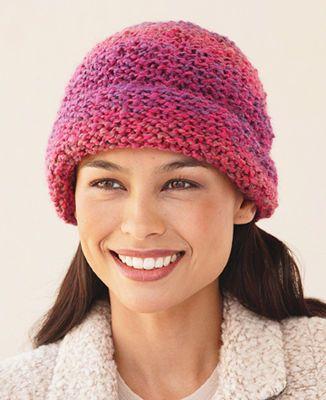 One Stitch Hat Knit Michaelsstores Knit Crochet Pinterest