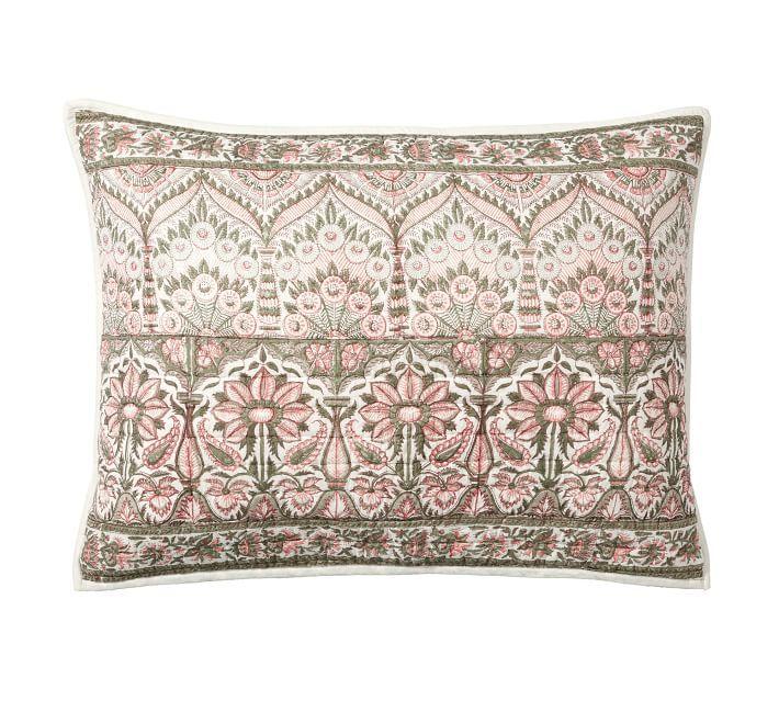 Amalia Reversible Block Print Cotton Quilt Amp Shams Sham