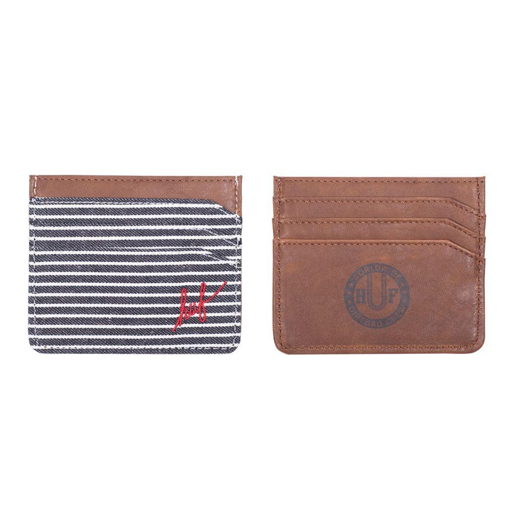 Fine Stripe Card Case in navy from Huf.