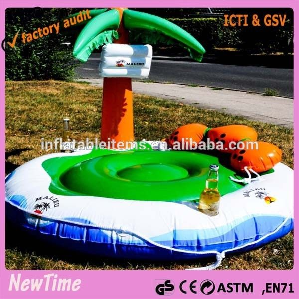 Inflatable Palm Tree Floating Island Water Island For Sale