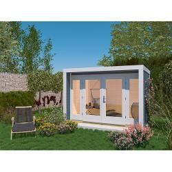 Weka Gartenhaus 263 (Holz, 8,7 m², Wandstärke 28 mm, Grau