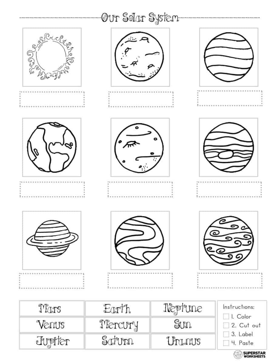 Solar System Worksheets Planet System Labeling Solar System Worksheets Solar System Crafts Solar System Coloring Pages