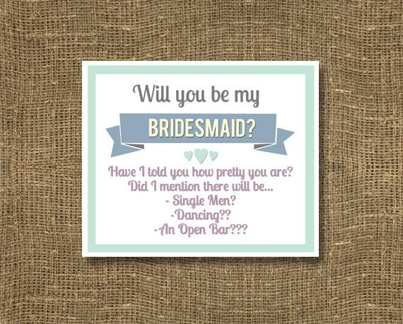 Funny Will You Be My Bridesmaid How To Ask A