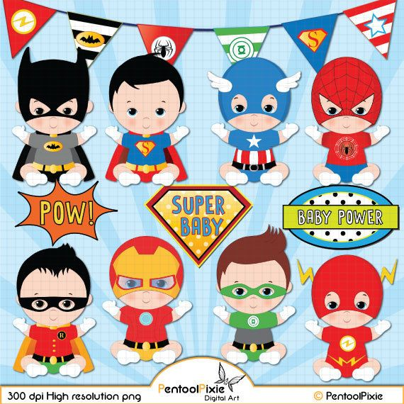 Superhero Baby Boy Clipart Super Boys
