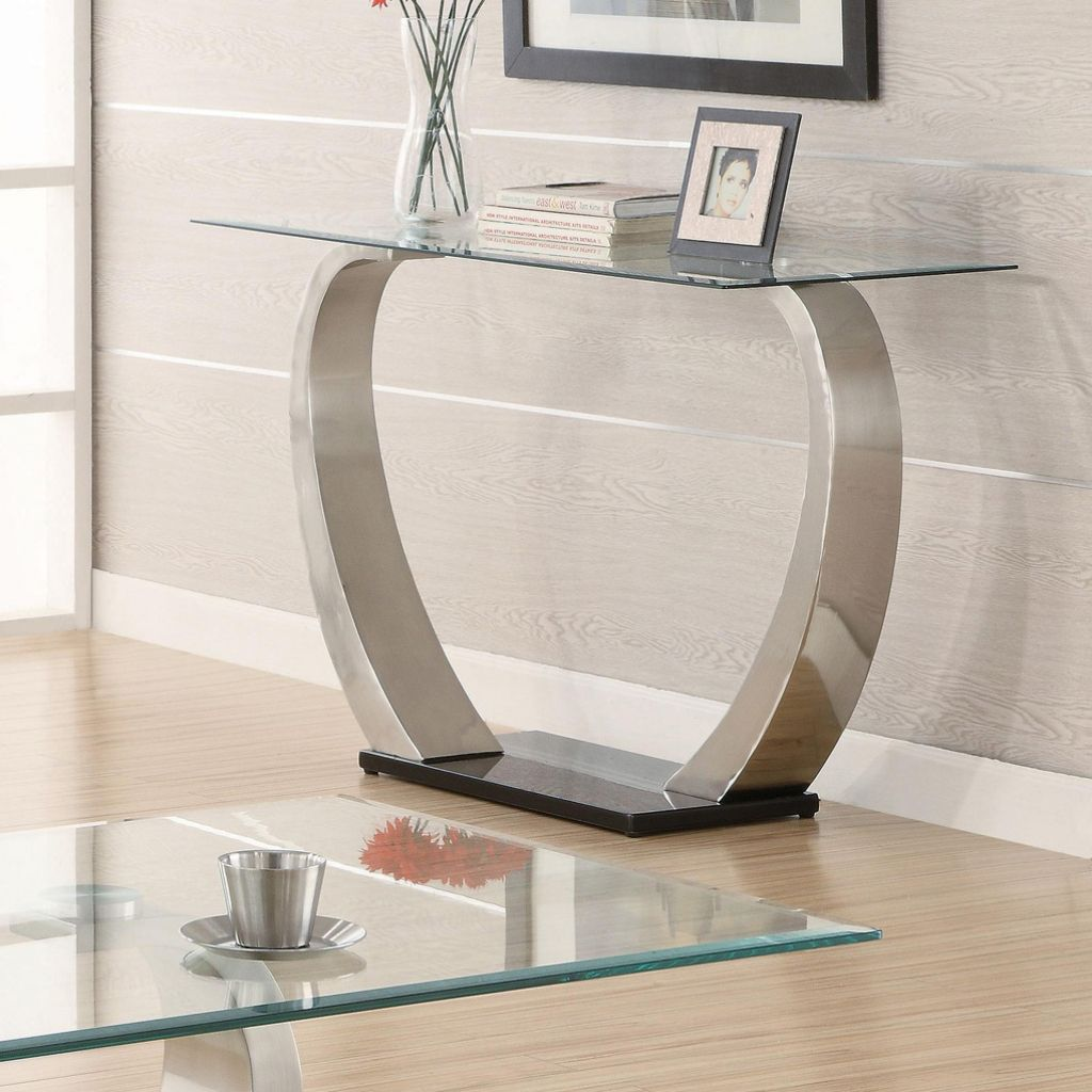 Glass Foyer Table Modern Sofa Table Living Room Sets Furniture