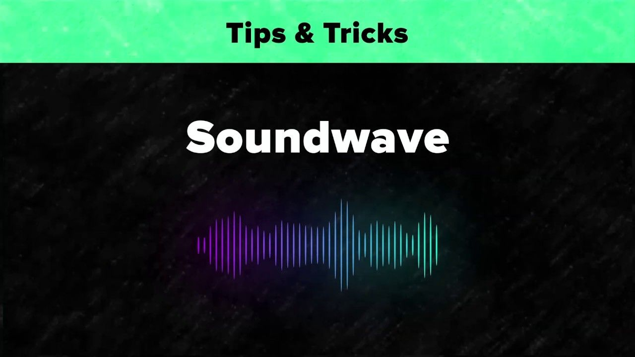 After effects tips tricks sound wave in 2020 sound