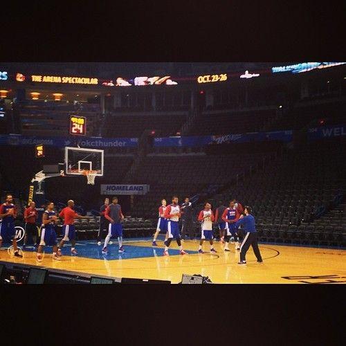 Morning stretch for the #Pistons in Oklahoma City :: http://ift.tt/1j0AVvf