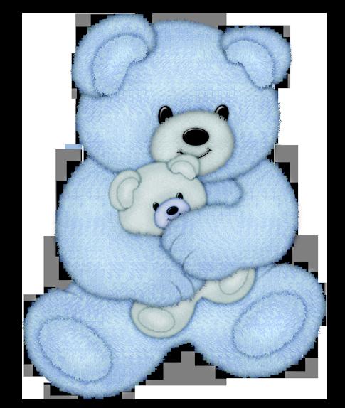 картинка медведь голубой