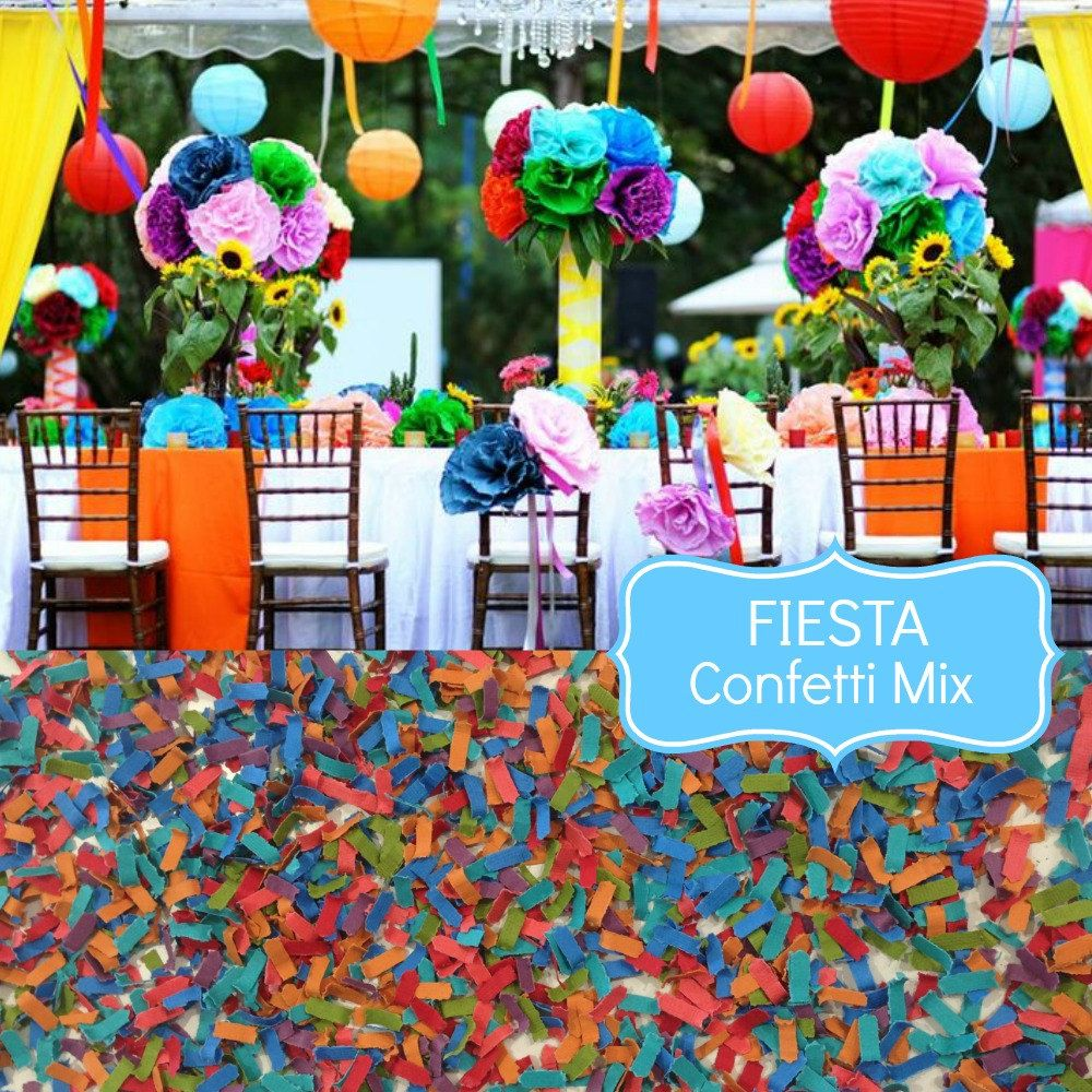 FIESTA Wedding Confetti Biodegradable Chic Wedding Etsy