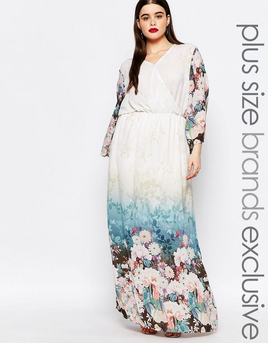 Image of truly you floral border print maxi dress Для пышек