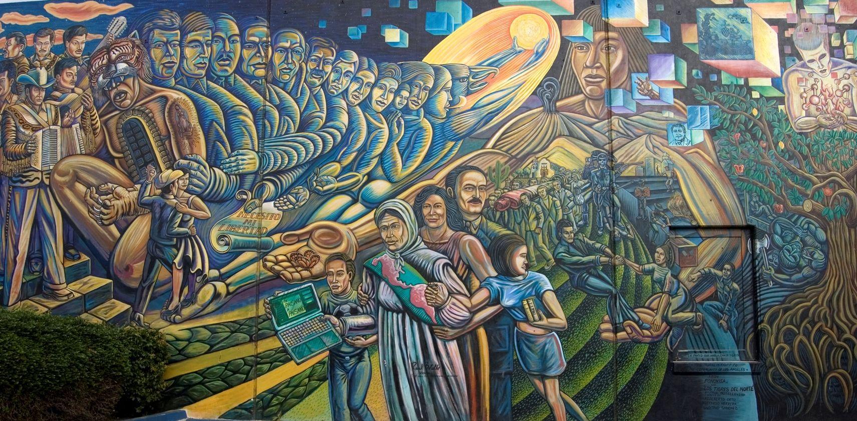 Denver Airport Wall Murals La Pared Que Habla Canta Y Grita Los Angeles Csu