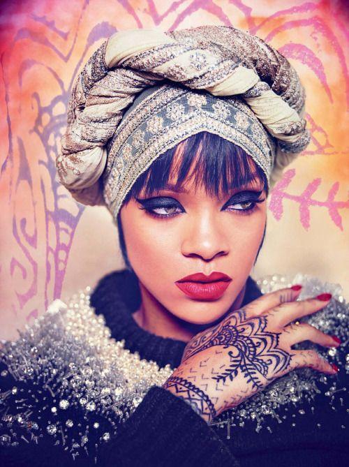 "Ruven Afanador. ""Rihanna of Arabia"". 2014. (Rihanna, Harper's Bazaar Arabia)."
