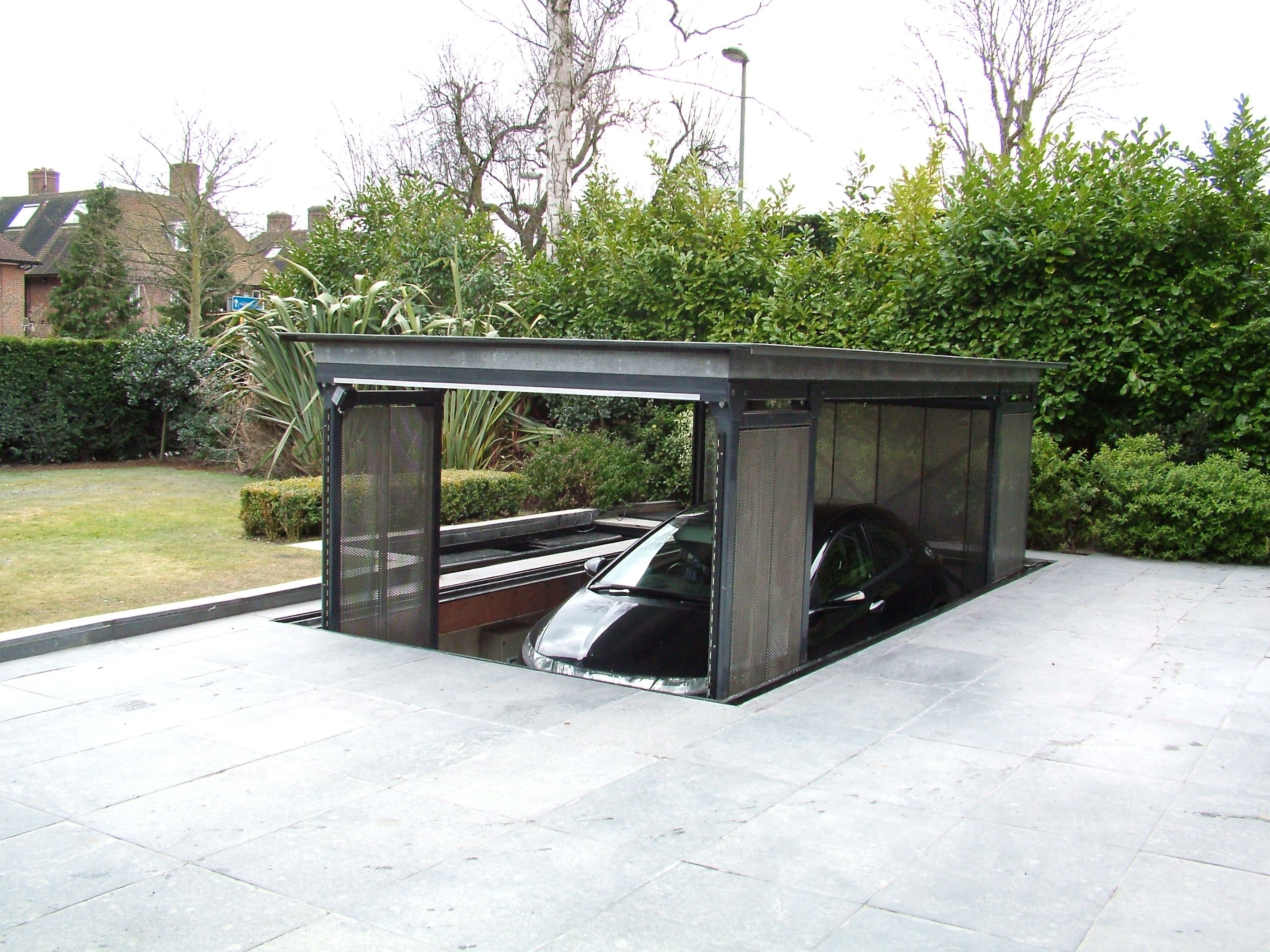 In Ground Garage Car Lift Underground Garage Lift Home Projects Underground Garage