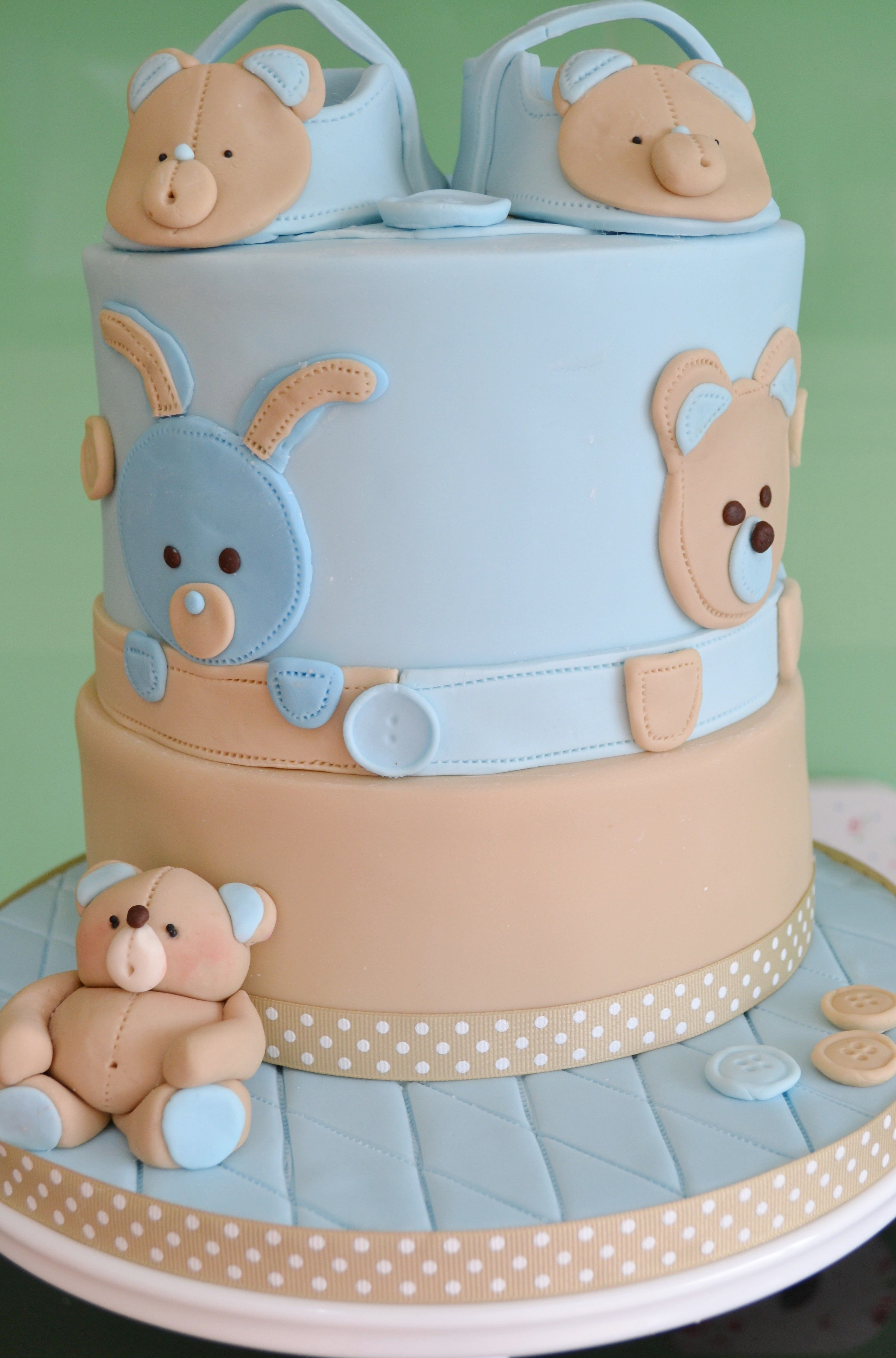 Christening / Baptism - Baby Boy christening cake with ...