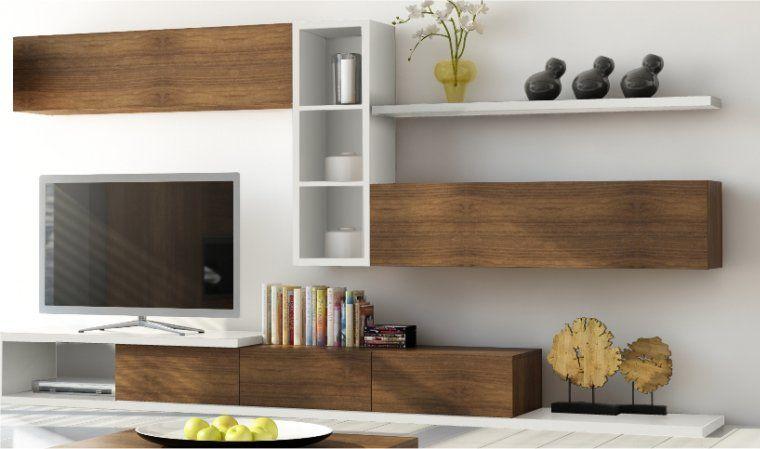 meuble tv 3 tiroirs notte | coin salon | pinterest | tvs et salons - Meuble Tv Design Bois Massif