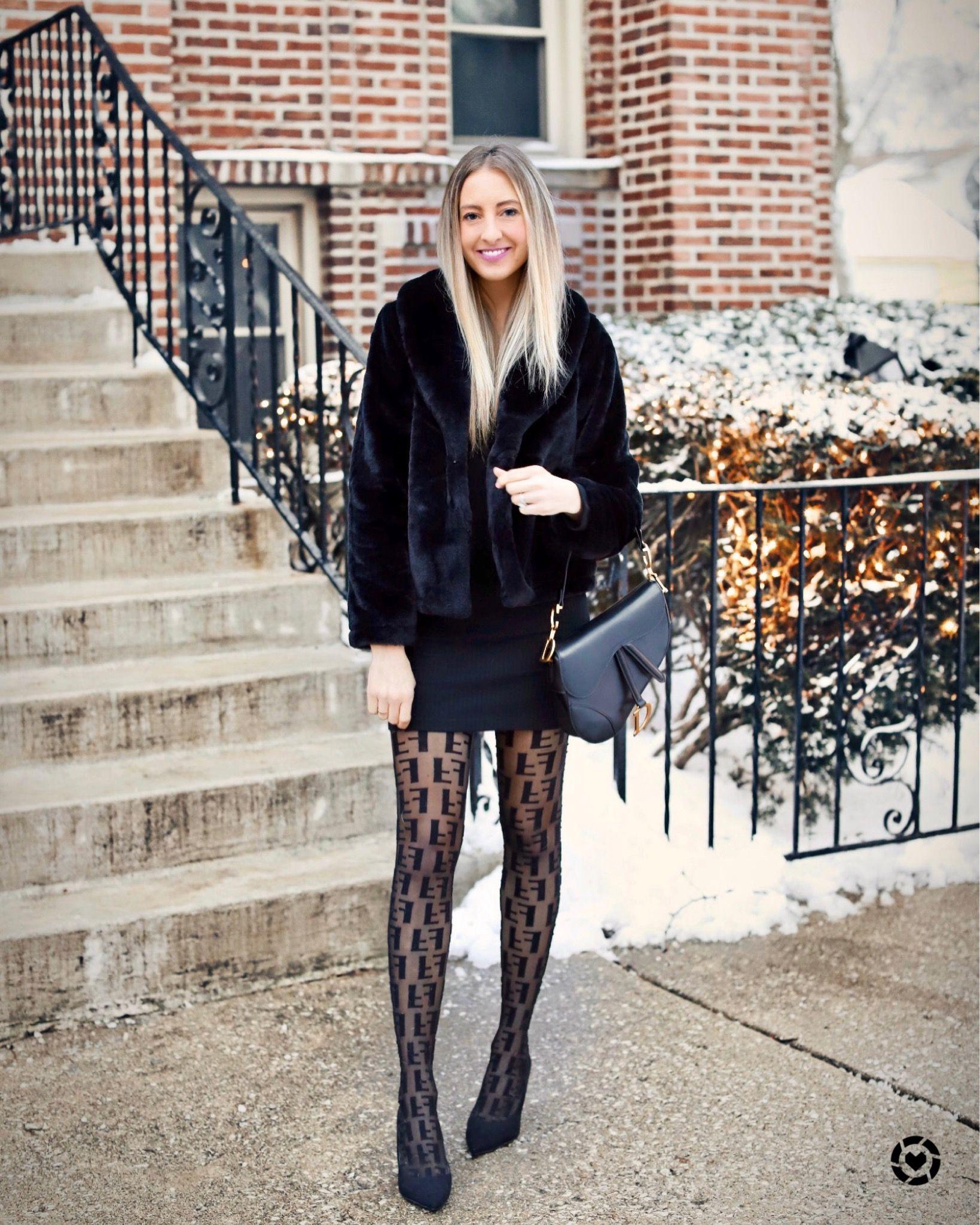 Fendi Tights Black Dress Winter Fashion Black Dress Winter Winter Dresses Fendi Tights [ 2049 x 1639 Pixel ]