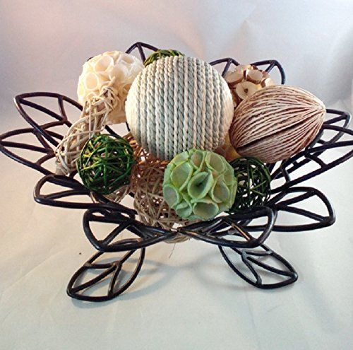 Decorative Rattan Balls Decorative Spheres Spring Green Rattan Vase Filler Bowl Filler